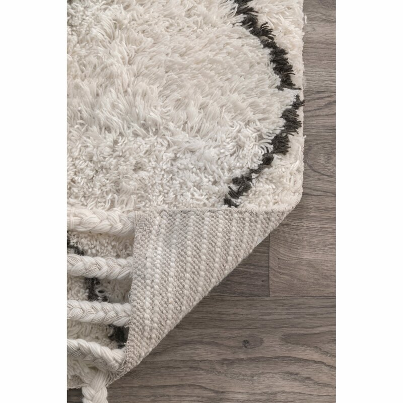 Langley Street Twinar Hand Knotted Wool Off White Dark