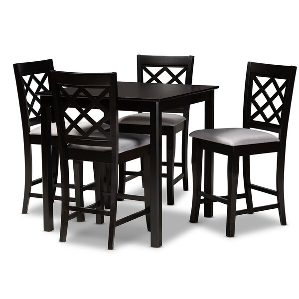 Lebeau 5 Piece Counter Height Dining Set