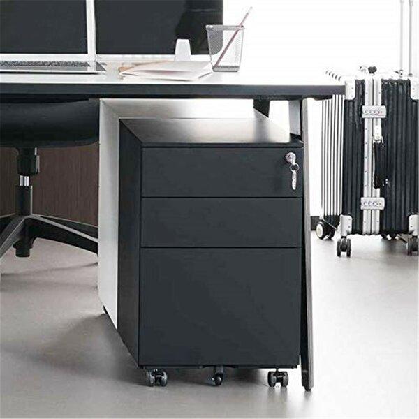 Ahmadou 3-Drawer Mobile Vertical Filing Cabinet