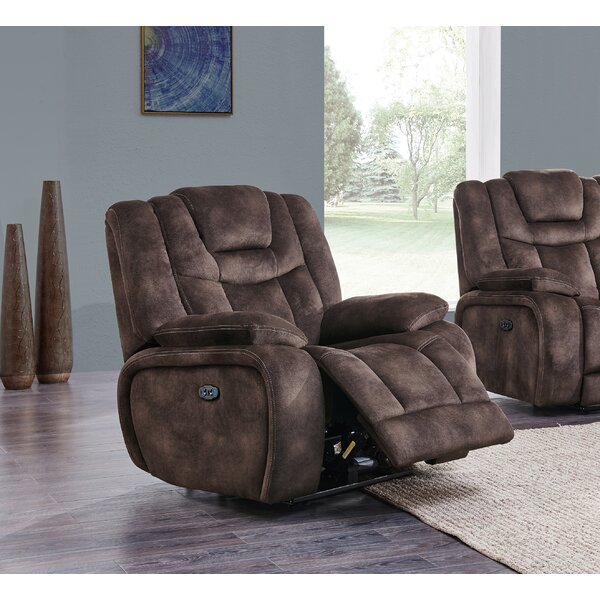 Gabe Adjustable Headrest Power Glider Recliner by Red Barrel Studio