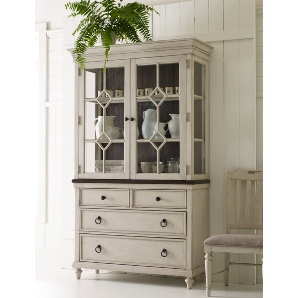 Ornithogale Lighted China Cabinet by Lark Manor