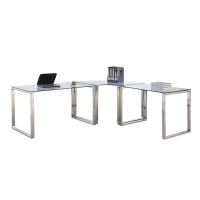 Darleene Glass L Shape Writing Desk Orren Ellis