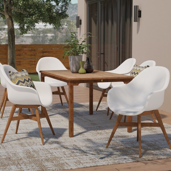 Alshain Teak 7 Piece Dining Set by Mercury Row
