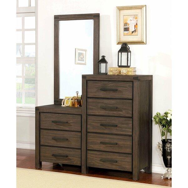 Triplett 8 Drawer Double Dresser with Mirror by Rosalind Wheeler