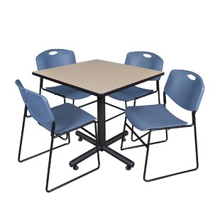 Marin 42 Square 5 Piece Breakroom Table and Chair Set By Symple Stuff