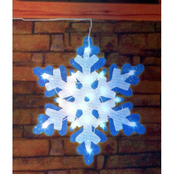 Lighted Tinsel Snowflake Christmas Window Silhouette Decoration by Northlight Seasonal