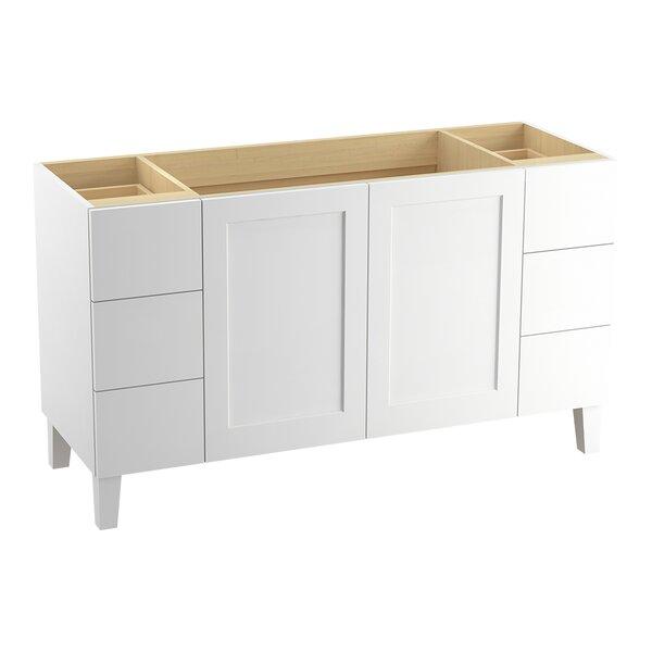 Poplin 60 Vanity with Furniture Legs, 2 Doors and 6 Drawers by Kohler