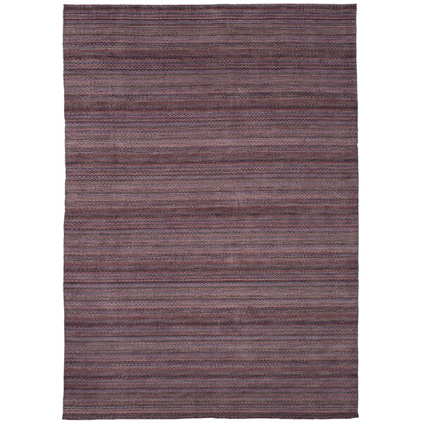 One-of-a-Kind Eibhlin Hand-Knotted Wool Purple Area Rug by Isabelline