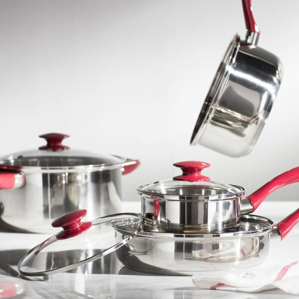 Crawford 7 Piece Stainless Steel Cookware Set by Sunbeam