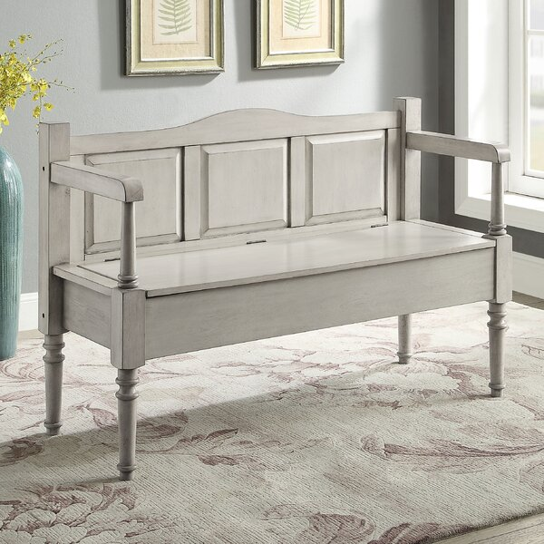 Humphery Wood Storage Bench by August Grove