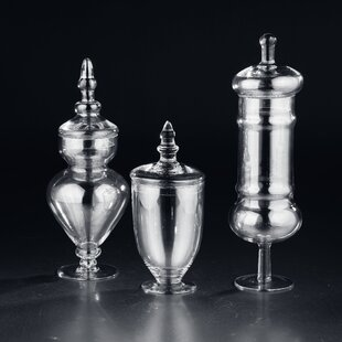 3 Piece Apothecary Jar Set