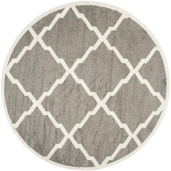 Maritza Dark Gray/Beige Indoor/Outdoor Woven Area Rug by Willa Arlo Interiors
