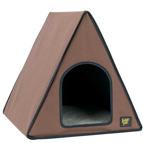 A-Frame Heated Cat House by FrontPet
