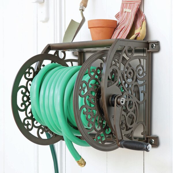Cast Aluminum Wall Mount Hose Reel by Liberty Products
