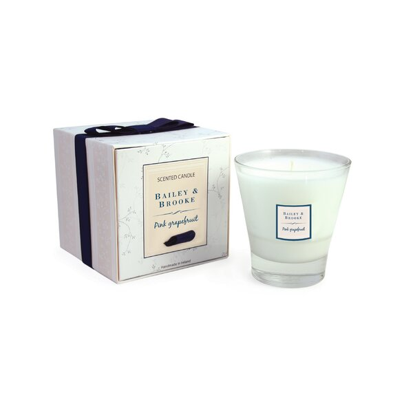 Grapefruit Filled Tumbler Glass Scented Jar Candle by Bailey and Brooke