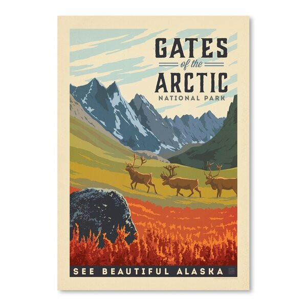 Gates of the Arctic National Park Vintage Advertisement by East Urban Home
