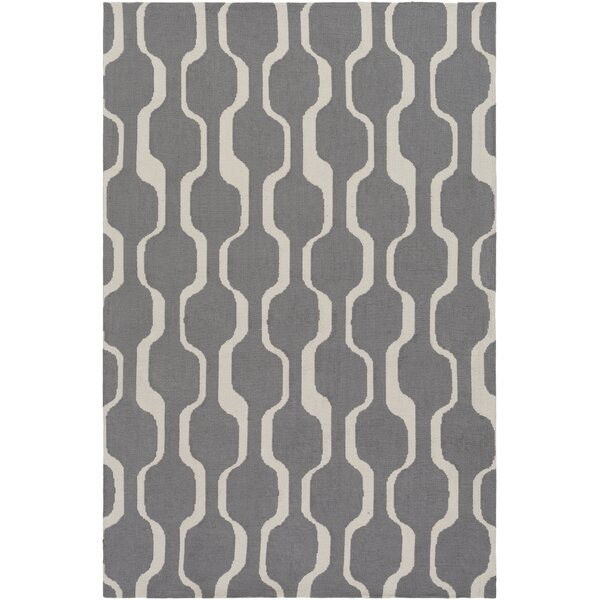 Zaire Hand Tufted Gray Area Rug by George Oliver