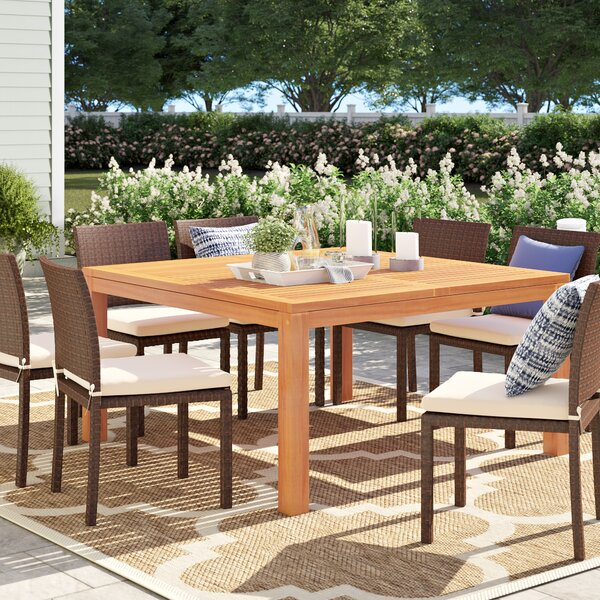 Brighton Solid Wood Dining Table by Sol 72 Outdoor