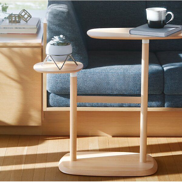 Swivo Solid Wood Floor Shelf End Table By Umbra