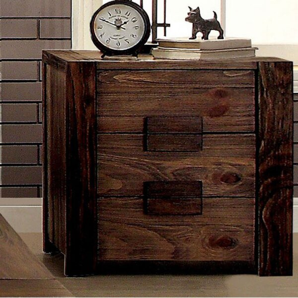 Kristin 3 Drawer Nightstand by Bloomsbury Market