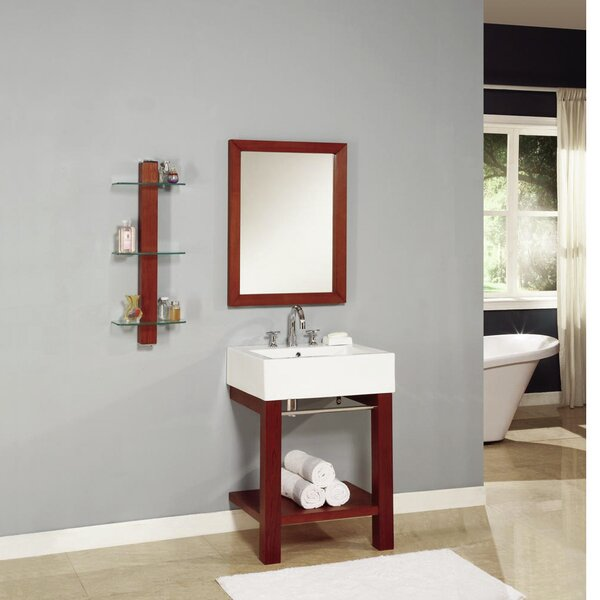 24 Single Wall Mounted Bathroom Vanity Set with Mirror by DECOLAV