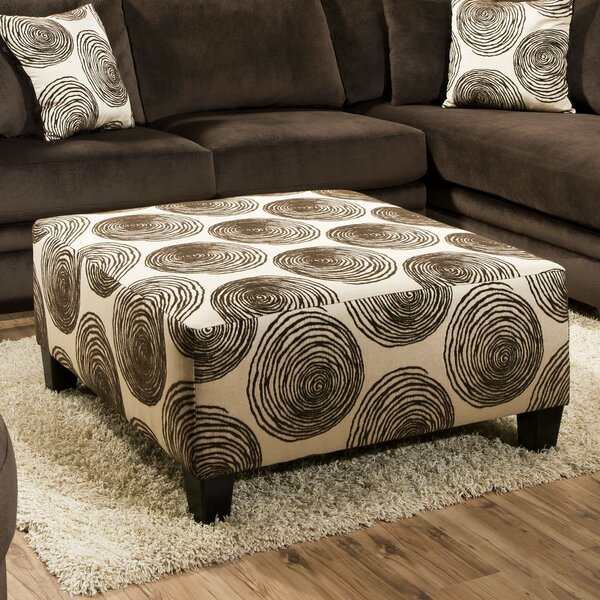 Leesburg Big Swirl Cocktail Ottoman by Alcott Hill