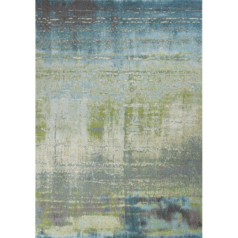 Allmodern Dunmore Abstract Green Area Rug Reviews Wayfair