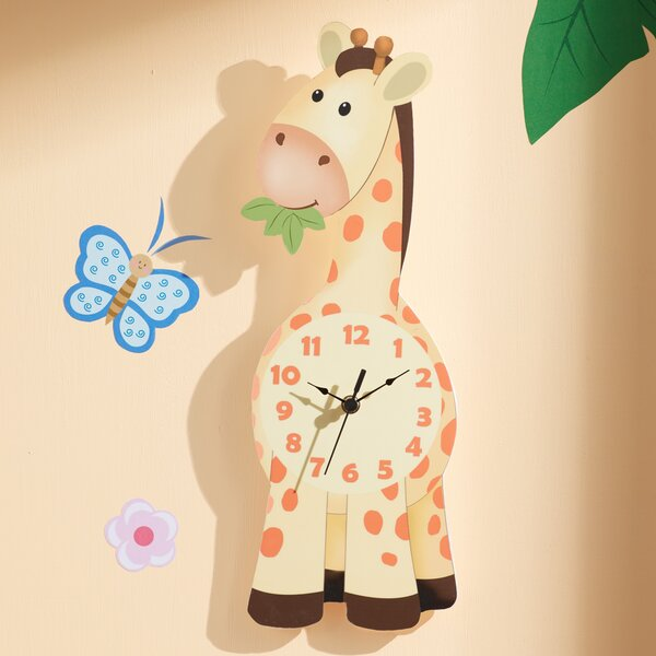 Sunny Safari Giraffe Wall Clock by Fantasy Fields