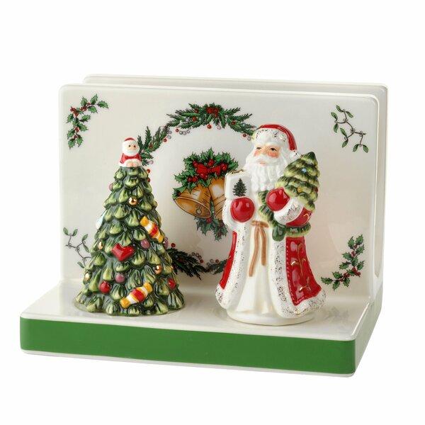 Christmas Tree Nakin Holder Salt And Pepper By Spode.
