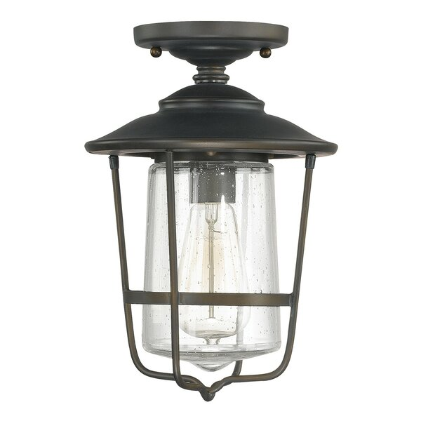 Remington 1-Light Outdoor Semi Flush Mount by Birc