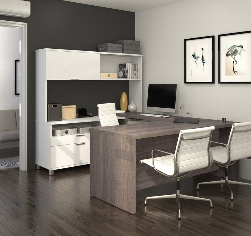 mercury row ariana 4-piece u-shape desk office suite & reviews