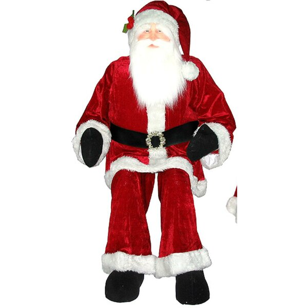 Huge Life Sized Sitting or Standing Decorative Plush Christmas Santa by Vickerman