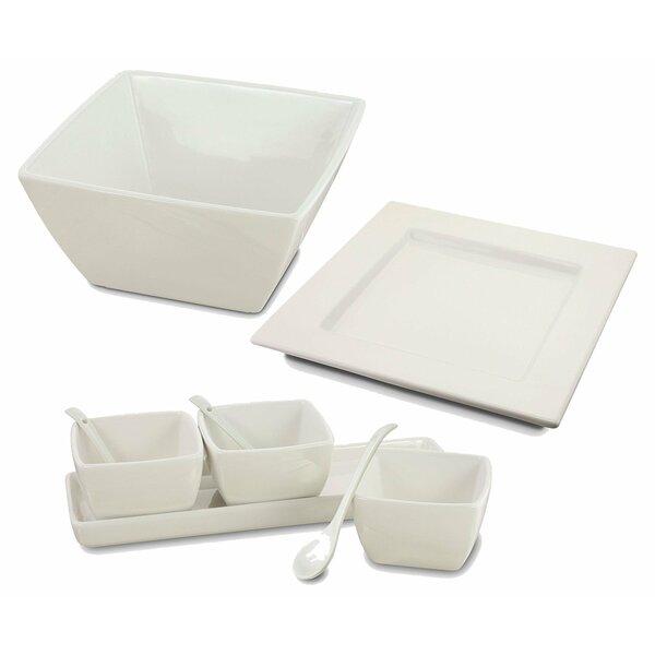 Isha 9 Piece Entertaining Ceramic Serving Platter Set by Latitude Run