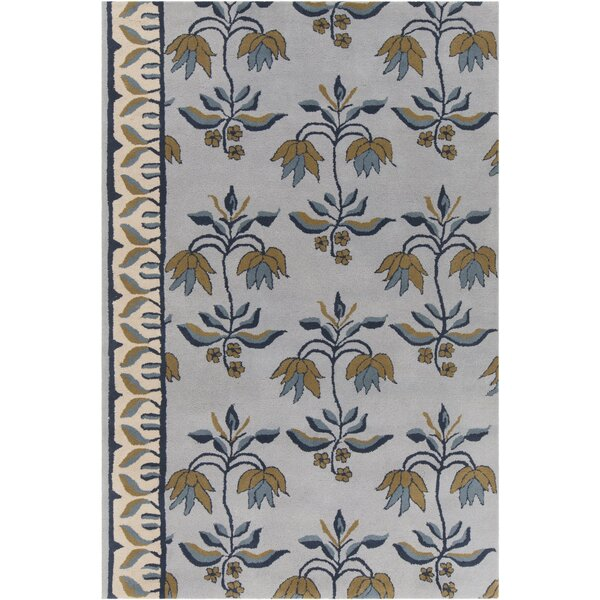 Baker Hand Tufted Wool Blue/Gray Area Rug by Darby Home Co