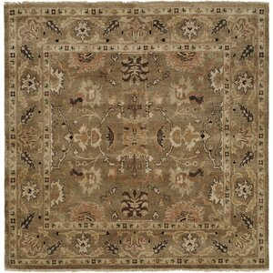 Eritrea Hand-Knotted Brown Area Rug