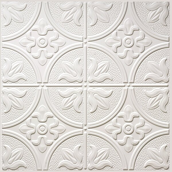 2 ft. X 2 ft. Lay-In Ceiling Tile in Matte White (Set of 5) by Global Specialty Products