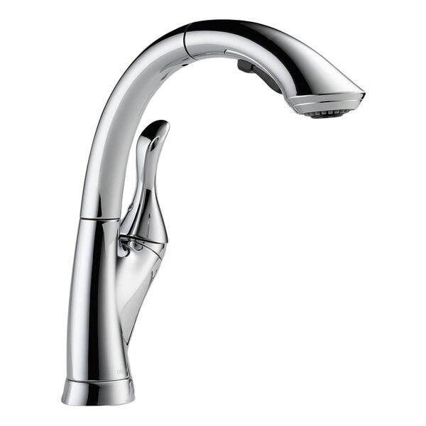 Linden Pull Down Touch Single Handle Kitchen Faucet with Diamond Seal Technology by Delta