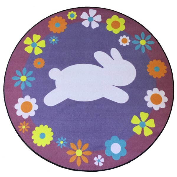 Silverview Easter Bunny Blue/Violet Area Rug by The Holiday Aisle