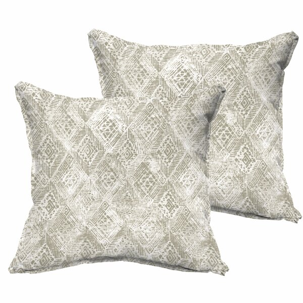 Caterina Flange Indoor/Outdoor Throw Pillow (Set of 2) by World Menagerie