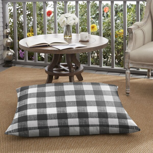 Banbridge Buffalo Outdoor Floor Pillow by Mozaic Company