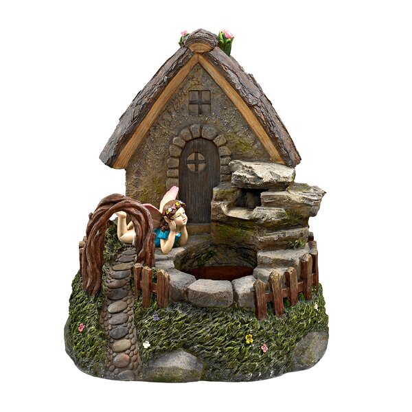 Resin Fairy Sanctuary Garden Village Sculptural Fountain by Wildon Home ®