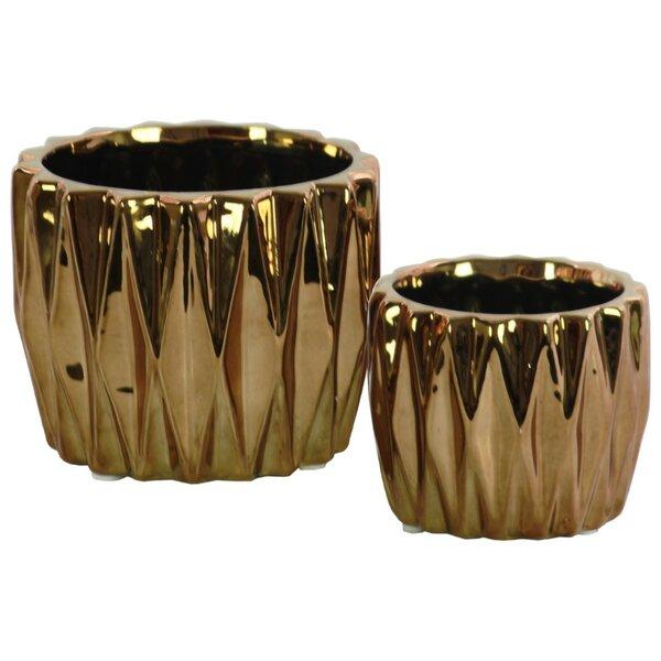 Granger Ceramic 2 Piece Table Vase Set by Wrought Studio
