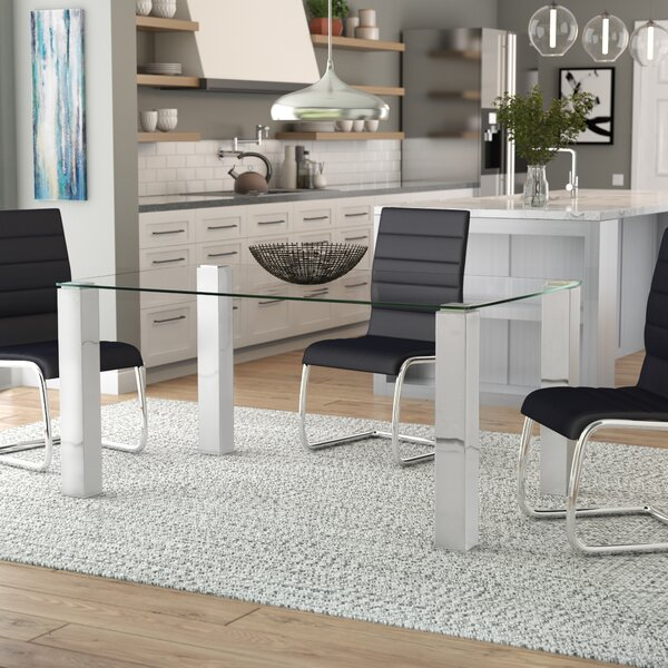 Best Choices Detwiler Modern Brushed Dining Table By Wade Logan New Design