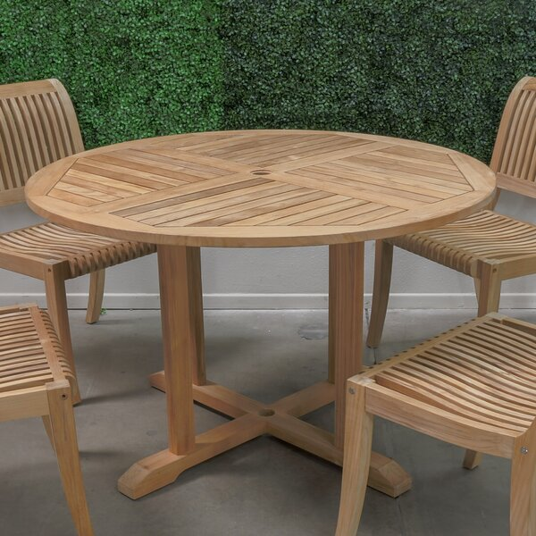 Kauffman Solid Wood Dining Table by Rosecliff Heights