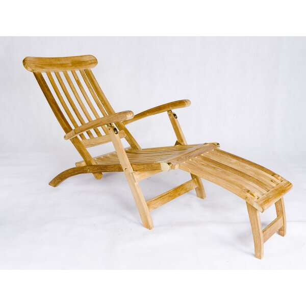 Teak Steamer Lounge Chair by Les Jardins