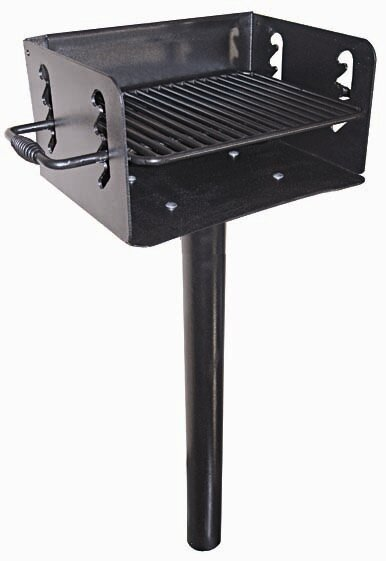 In-Ground Mount Charcoal Grill by Action Play Systems