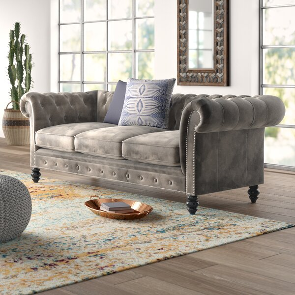 Best #1 Brooklyn Chesterfield Sofa By Mistana Find