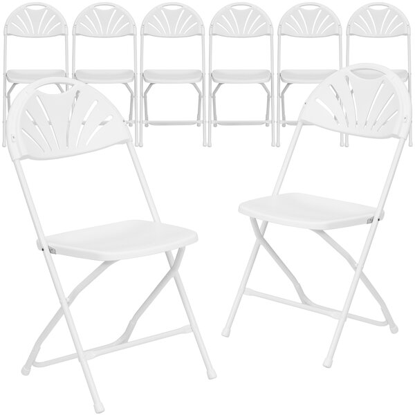 Laduke Plastic Fan Back Folding Chair (Set of 8) by Symple Stuff