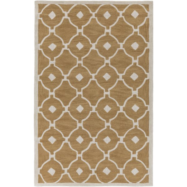 Kroeger Beige & Ivory Area Rug by Latitude Run
