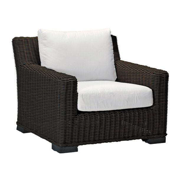 Rustic Wicker Armchair by Summer Classics